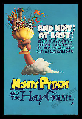 Monty Python And The Holy Grail Original 1975 British Double Crown Movie Poster!