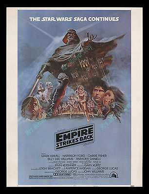 Star Wars THE EMPIRE STRIKES BACK 1980 ORG NSS 30x40 INCH MOVIE POSTER DISPLAY!