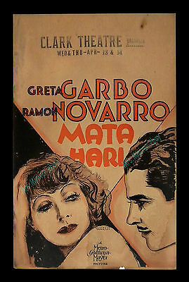 GRETA GARBO ☆ 1930 ☆ MATA HARI ☆ 14x22 1-OF-A-KIND & ONLY KNOWN MGM MOVIE POSTER