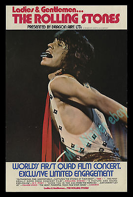 Ladies And Gentleman The Rolling Stones 1973 QUADROPHONIC SOUND - MOVIE POSTER!!