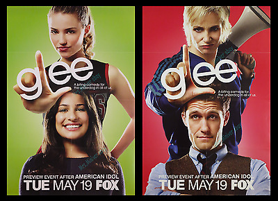 Glee ☆ Impossible To Find  ☆ 2009 Advance Movie Poster Tv Advertising 1-Sheets!!