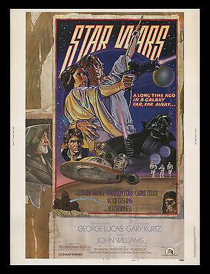 """ORIGINAL ROLLED Star Wars Style """"D"""" 30""""x40"""" Theater Lobby Display Movie Poster!!"""