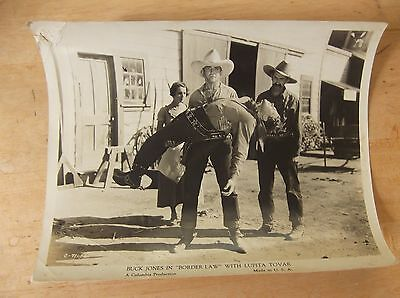 1931 Black and White Photographic Still of Border Law Starring Buck Jones