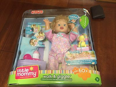Fisher Price Little Mommy Interactive Walk and Giggle Doll.