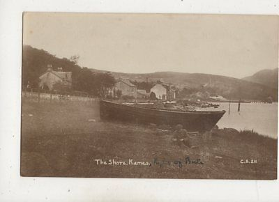 The Shore Kames Bute Scotland CS 211 Vintage RP Postcard