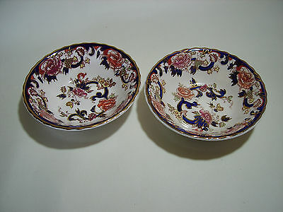 Two Lovely Masons Dessert Bowls. Mandalay. Made in England