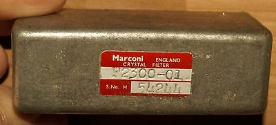 Marconi crystal 1.4 Mhz IF narrow  bandwidth filter  comms receiver QRP