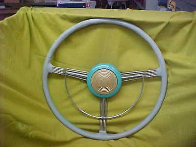 1939 1940 Cadillac 60 Series Banjo Steering Wheel With Horn Ring & Center Cover