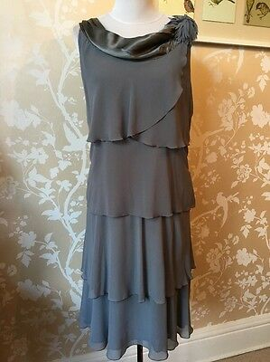 Stunning Amazing Jaques Vert Mother Of The Bride Detailed Dress Size 20