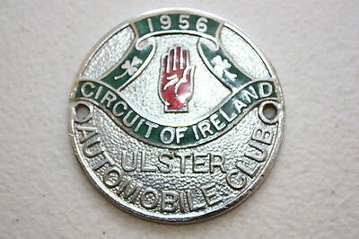 Vintage Car Badge Ulster Automobile Club 1956 Circuit Of Ireland Rally Sport Car