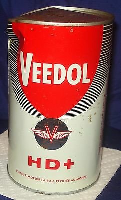 BH168 Vtg Veedol Motor Oil Tin Can 1 Qt HD+ SAE20
