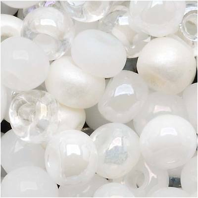 Czech Seed Beads 6/0 'White Wedding White Pearl Mix Lot