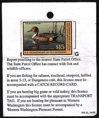 US #RW68A $15 Federal Duck Hunting USED Stamp