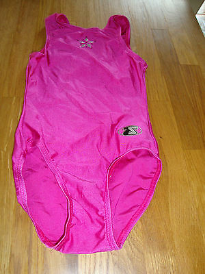 "THE ZONE 26"" Gymnastics Leotard AGE 5-6 PINK WITH SEQUINS"