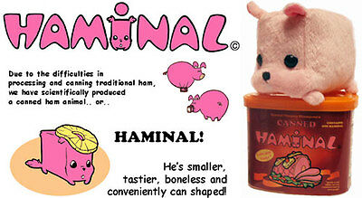 Haminal Pig Hamster Guinea Pig Canned Plush Novelty Gag Gift Crystal Chesney Nib