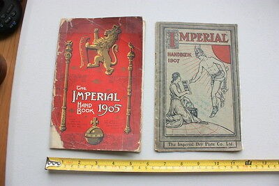 1907 & 1905 Antique Imperial Handbook Vintage Photography Photographic Plate