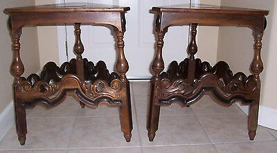 KITTINGER   TABLES TWO   ARTS CRAFTS MISSION / Gothic  style  *RARE TRIANGLE*