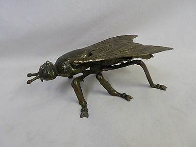 Fly Large Cast Metal Ashtray Textured Wings Bee Insect 7""