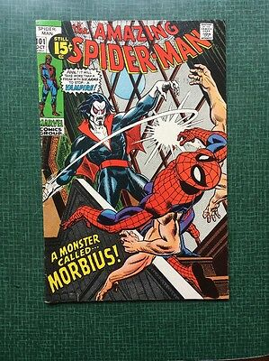 The Amazing Spider-Man #101 Marvel Comics 1971 FN 1st Appearance Morbius