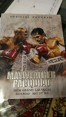 Mayweather vs Manny Pacquiao Official Program 2015