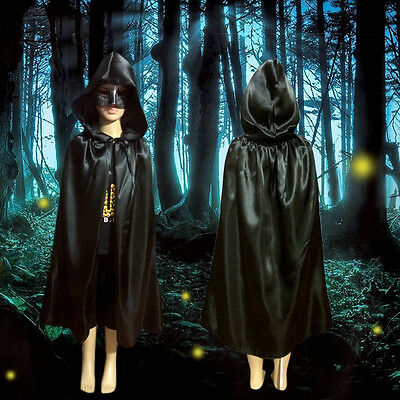 Gothic Hooded Unisex Cloak Wicca Robe Medieval Witchcraft Cape Halloween Costume