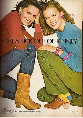 1979 Kinney American Shoes Boots Magazine Print Advertisement Ad Vintage VTG 79s