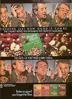 1987 Post Fruit and & Fibre Cereal Retro Print Ad Vintage Advertisement VTG 80s