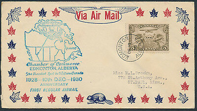 1930 AAMC #3067 Edmonton 2nd Aniversary of Airmail, Wheat Label