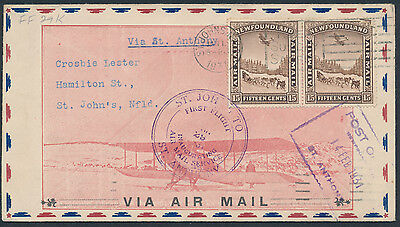 1931 #FF40 St John's - St Anthony and Return, Illustrated NFLD Airmail Cover