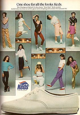 1981 Keds Sneakers Running Shoes Retro Print Ad Vintage Advertisement VTG 80s