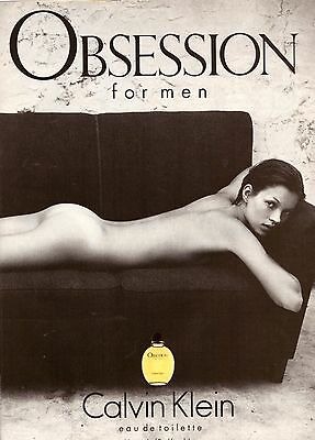 1994 Calvin Klein Obsession Perfume Kate Moss Print Advertisement Ad VTG 90s