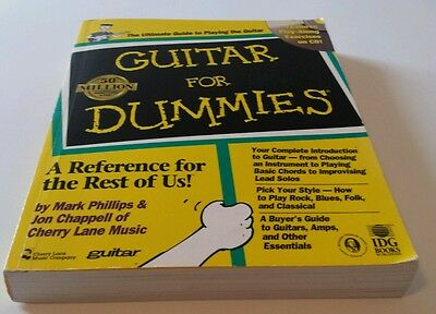 GUITAR FOR DUMMIES® by Jon Chappell and Mark Phillips (1998, Paperback) WITH CD