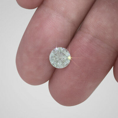 1.55 Carat Round Certified Loose Diamond - H Color SI2 Clarity Enhanced #D3233