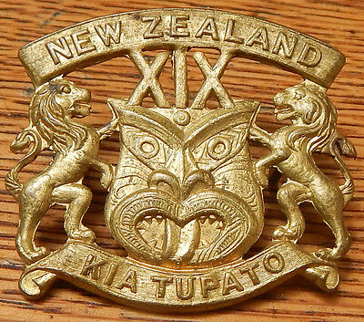 NEW ZEALAND WW1 19th Reinforcements Cap Badge *SCARCE* & its in SUPERB condition