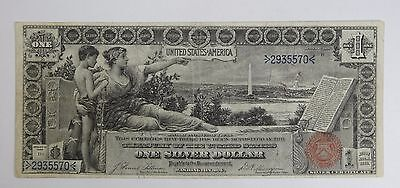 Series 1896 Large Size $1 Educational Silver Certificate Note VERY FINE  Fr#224