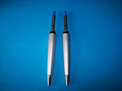 2 WATERMAN EXPERT MATTE SILVER BALLPOINT PEN SPARE PARTS (new)