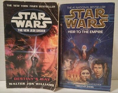 STAR WARS PAPERBACK BOOKS The New Jedi Order HEIR TO THE EMPIRE