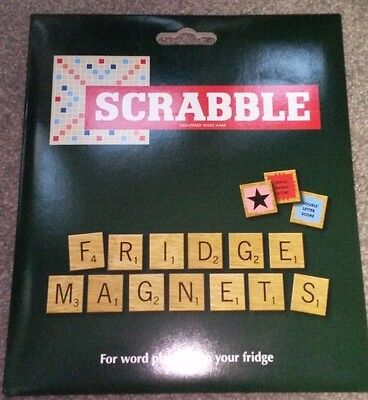 Scrabble Fridge Magnets, Brand New & Sealed **FREE POSTAGE**