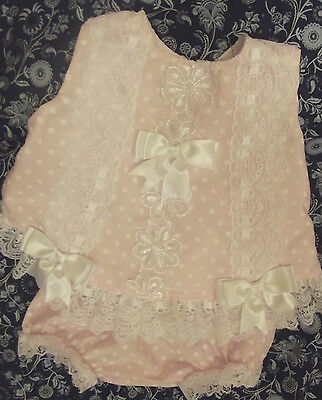 Dream Baby Girls Spanish Lined Angel Top & Frilly Knickers  0 Months To 2Years