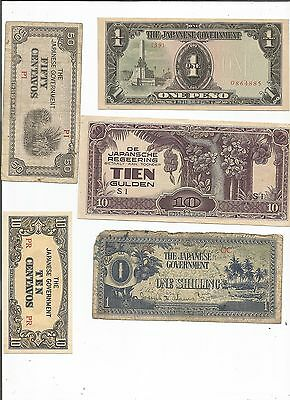 Japan Wwii Military Occupation Bank Note Collection