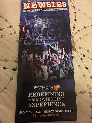 Newsies Broadway Musical In Movie Theaters - Fathom Events - Rare Ad - Disney