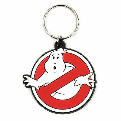 Officical Ghostbusters No Ghost Logo Rubber Keyring Keychain