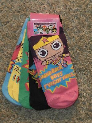 SUPERHERO - Ankle Socks !!!   One Size fits 4 to 10 , 5 Pairs assorted,  ( New )