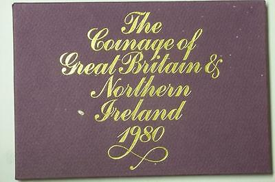 1980 COINAGE OF GREAT BRITAIN AND NORTHERN IRELAND 6 COIN PROOF SET #5961 med