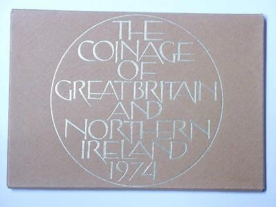1974 COINAGE OF GREAT BRITAIN AND NORTHERN IRELAND 6 COIN PROOF SET #3639 med