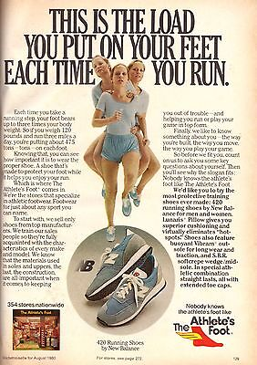 1980 The Athlete's Foot New Balance Shoes Advertisement Print Ad Vintage VTG 80s