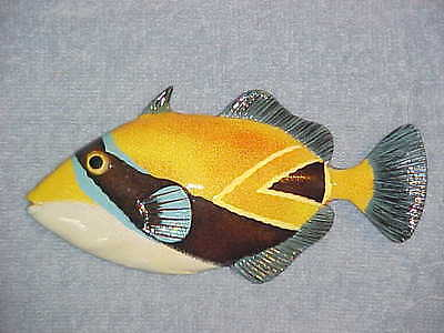 "8"" TROPICAL FISH Wall Decor Bath Beach Nautical Nursery Aquarium Ocean Aquatic"