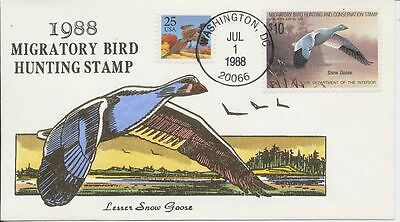 #RW55 1988 Federal Duck cover Hand Painted Wildermuth 60 made First Day cover