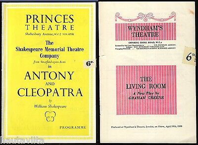 Anthony Cleopatra Shakespear Play Don Pleasance Redgrave Wyndhams Theatre 1953