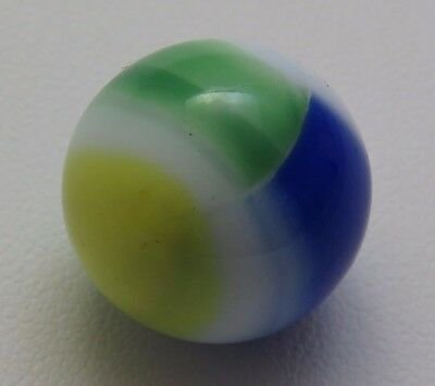 "Vintage White,Blue,Yellow & Green 5/8"" Rainbow Marble Lot CN16"